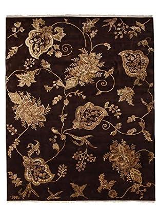 Darya Rugs Traditional Oriental Rug, Black, 8' 1