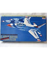 Hasegawa 1:48 Scale F 16 A Fighting Falcon (Thunderbirds) Usaf Air Demonstration Squadron Model Kit