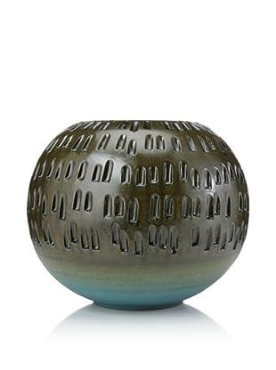 Global Views Round Ceramic Vase