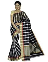 Korni Cotton Silk Banarasi Saree DS-1503- Black KR0458