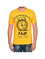 Being Muslim Yellow Cotton T-shirt for Men