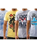 Funktees 100% Cotton Small Size T-Shirts for Men - Pack of 4