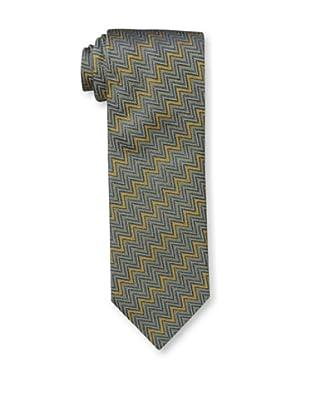 Missoni Men's Textured Zig Zag Tie, Gold/Blue