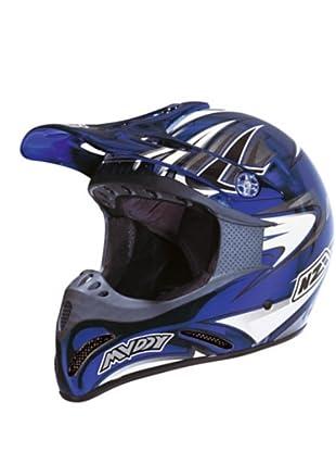 NZI Casco Integral Motocross Muddy Cromo Cab (Azul)