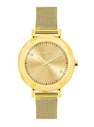 K&BROS 9183-4 / Reloj de Señora con brazalete metálico dorado