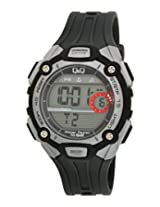 Q&Q Digital Black Dial Men's Watch - M083J001Y