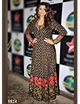 Daisy Shah In Black Beautiful Anarkali At Sets Of Nach Baliye - For Salwar Suit