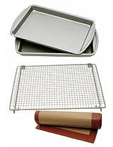 Kitchen Elements 4-Piece Baking Set with 2 Cookie/Jelly Rolls Pans GA004