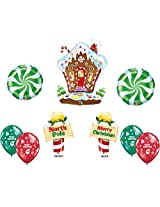 Gingerbread House Merry Christmas Balloon Decoration Kit