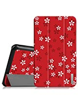 """Fintie Samsung Galaxy Tab E 8.0 Case - Ultra Slim Lightweight Standing Cover for Samsung Galaxy Tab E 8"""" (Sprint / US Cellular) SM-T377 4G LTE 8-Inch Tablet, Floral Red"""