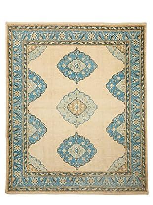 Rug Art Ltd. New Production Oushak Carpet, Cream/Blue, 7' 11