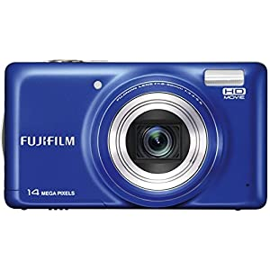 Fujifilm FinePix T350 14MP Point and Shoot Digital Camera with 10x Optical Zoom (Blue)