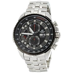 Casio Edifice Tachymeter Chronograph Black Dial Men's Watch - EF-558D-1AVDF (ED436)
