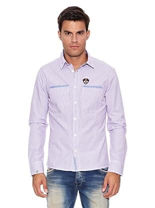 Pepe Jeans London Camisa Daniel (Blanco / Violeta)