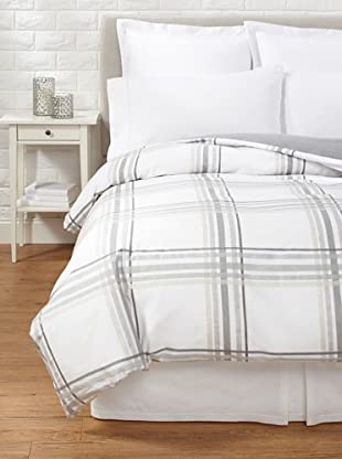 Belle Epoque Horizon Duvet Cover (White/Grey)