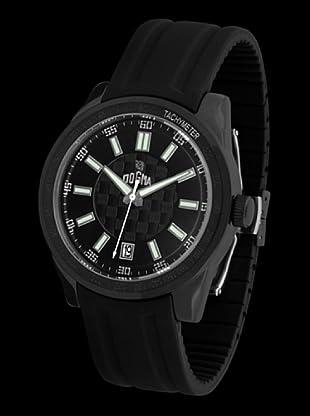 Dogma G7024 - Reloj de Caballero movimiento de quarzo con correa de caucho blanco