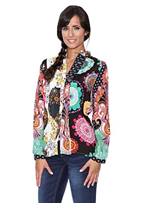 Peace & Love Blusa Estampada Patchwork (Multicolor)