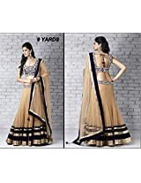 Bollywood Replica Lehenga 9 Yard Party Wedding Wear Lehenga: NFS1005