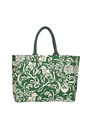 Rock Flower Paper Toile Carryall Tote, Evergreen