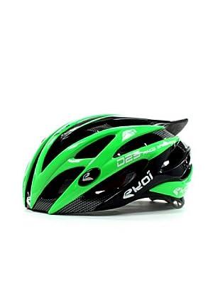 Ekoi Casco de ciclismo Diablo (negro/verde)