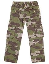 Bio Kid Boys' 7-9 Years Cargo Pants (Leaf Green Camo, 128-134 Cms )