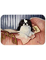 Caroline's Treasures MH1058JCMT Japanese Chin Reading in Bed Kitchen or Bath Mat, 24 by 36 , Multicolor