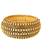 JFL- Exquisite and Ethnic Designer One Gram Gold Plated Openable Kada for Women