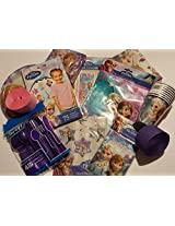 Frozen Anna & Elsa Birthday Party Super Set Plates Napkins Cups Utensils Streamers & More
