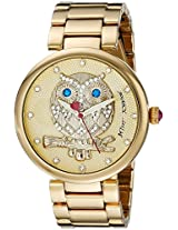 Betsey Johnson Women's BJ00468-02 Analog Display Quartz Gold Watch