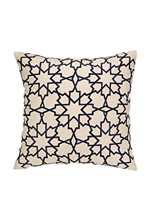 Peking Handicraft Moroccan Star Pillow, Navy
