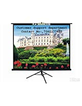 Luzon Dzire Tripod Type Projector Screen 6X6 Ft.(IN IMPORTED HIGH GAIN FABRIC A+++++ GRADE)10