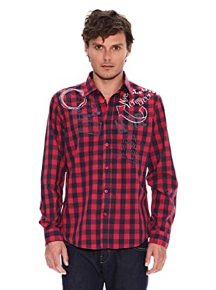 Desigual Camisa Umbrer (Marino / Rojo)