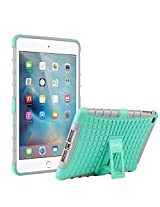 ULAK iPad Mini 4 Case 7.9 inch, Plastic Dual Layer Extreme Duty Dual Protective Back Cover with Kickstand for iPad Mini 4 4th 2015 Tablet