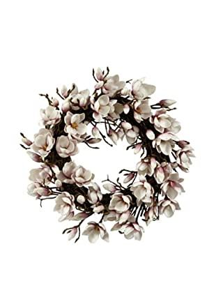 Winward Faux Japanese Magnolia Wreath, Lavender