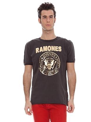 Amplified Camiseta Print Metal The Ramones (Carbón)