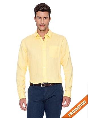 Dockers Camisa de Lino Manga Larga (Sudae)