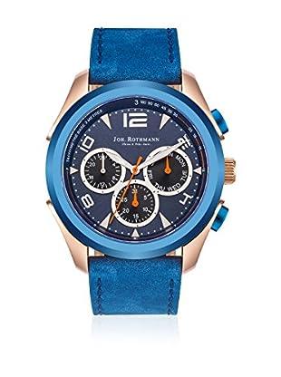 Joh. Rothmann Reloj con movimiento cuarzo japonés  Azul Eléctrico 46 mm