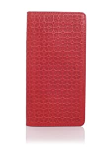 Hlaska Artifacts Women's Embossed Slim Check Wallet (Tritone Red)