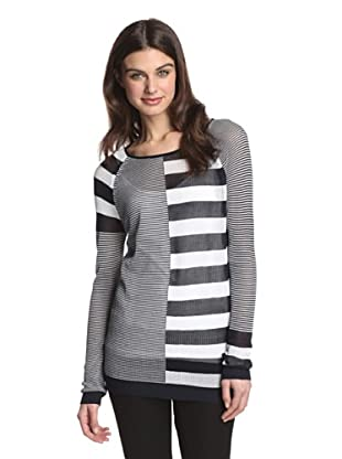 525 America Women's Mixed Media Stripe (Navy Combo)