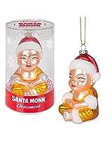 Santa Monk Ornament