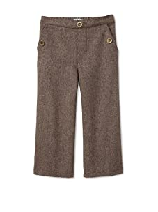 Velvet & Tweed Boy's Pull-On Tweed Pant with Button Pockets (Chocolate)