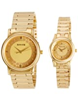 Sonata Analog Champagne Dial  Pair Watch - 10138925YM01