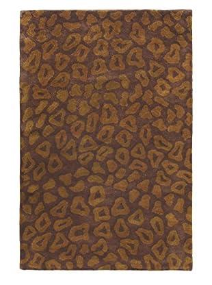 Handmade Athina Rug, Dark Brown, 3' 7