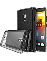 OnePlus 2 Case, Ringke FUSION ** Shock Absorption Technology** [FREE Screen Protector][SMOKE BLACK] Scratch Resistant Clear Back Drop Protection Bumper Case for OnePlus 2 / Two