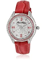 H Ph12988jspk/04 Pink/Silver Analog Watch Paris Hilton