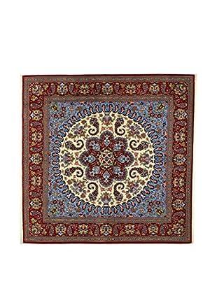 L'Eden del Tappeto Teppich Qom Sh himmelblau/mehrfarbig 200t x t200 cm