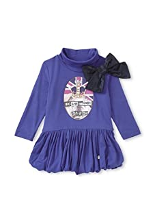 Microbe by Miss Grant Girls Queen Bubble Dress (Blue)