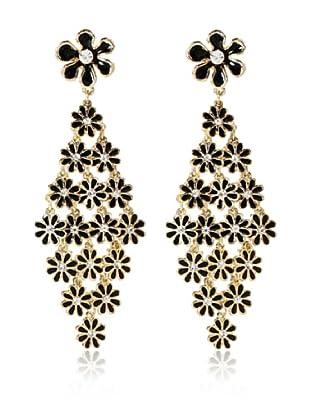 Amrita Singh Pendientes Skyler Flowery Negro