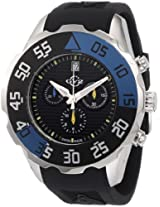 GV2 by Gevril Men's 3001R Parachute Chronograph Rubber Date Watch