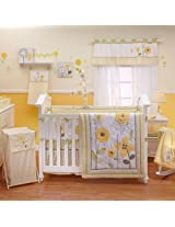 Bright Blossoms 9 Piece Baby Crib Bedding Set with Bumper by Nojo
